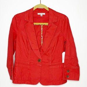 cAbi orange blazer with button front